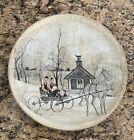 P. Buckley Moss SUNDAY RIDE #3 Third Art Plate VALLEY LIFE American Silhouettes