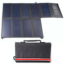 60W SunPower Solar Panel Charger Portable Power Pack for iPad, iPhone, Samsung