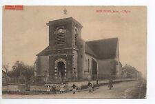 BREVONNES Aube CPA 10 enfants devant l'église