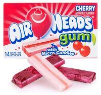 Air Heads Cherry Flavor With Micro-Candies Sugar Free Gum American Gums