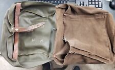 Swiss Army Military Canvas Leather Messenger Bread Surplus Bag