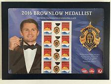 New Mint Patrick Dangerfield Brownlow Medallist 2016 Souvenir Stamp Sheet SSS