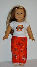 AMERICAN MADE DOLL CLOTHES FOR  AMERICAN GIRL DOLLS DRESS LOT OSU- PJS