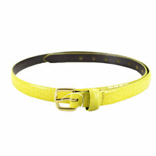NEW Marc by Marc Jacobs Croc Embossed Leather Belt in Yellow