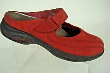 Women MERRELL TOPO Clutch Red Performance Mules Mary Jane Shoes Size 6 (eur 36)