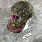 Mossy Oak Hunting Hat Camouflage Womens Strapback Embroidered Pink Cap