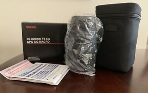 Sigma 70-300mm F/4-5.6 APO DG Macro Lens for Canon NIB (Lot #1)