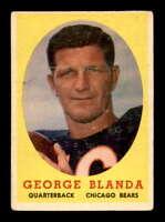 1958 Topps #129 George Blanda  VGEX X1549640