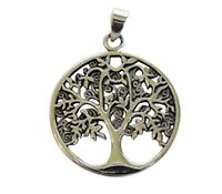 Sterling Silver 925 Tree Of Life Pendant ( 22 MM )  !!       Brand  New  !!