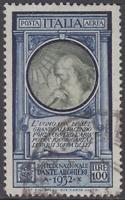 Italy Regno - 1932 Dante Alighieri Air Mail 100 Lire Sass. n.A41 cv 1800 used