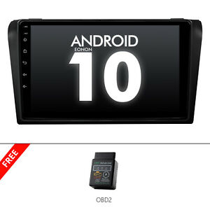 """OBD2+Android 10 9"""" IPS Car GPS Stereo Head Unit Radio For Mazda 3 2005 2006-2009"""