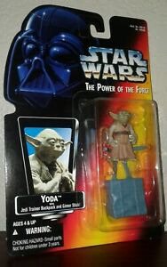 YODA Star Wars Power of the Force 1995 Red Card New Unopened