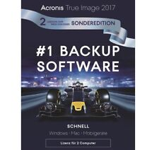 Acronis True Image 2017 / 2018* 2-PC Backup+Recovery Dauerlizenz / Deutsch / KEY