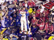 NASCAR SUPERSTAR DALE EARNHARDT JR WINS AT DAYTONA  8X10 PHOTO W/BORDERS