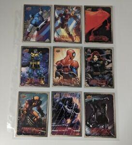 Marvel (2016, Upper Deck) Dossier--Complete Base Card Set - 55 Cards