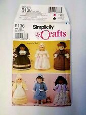 "Simplicity Crafts 9136 Pattern 18"" Doll Clothes Teri Uncut 2000"
