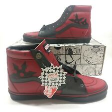 e464d67974b18d Mens VANS SK8-HI Marvel Deadpool Limited Edition Leather Black Multi Size  Shoes