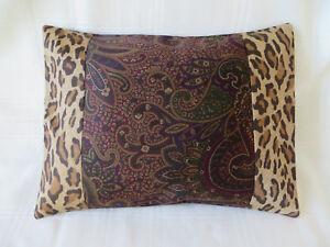 1 ONE RALPH LAUREN BOHEMIAN PAISLEY/Leopard TOSS PILLOW Sham New