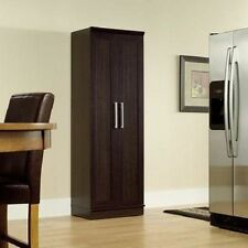 Tall Storage Cabinet Wood Clothes Wardrobe Utility Closet Shelving Furniture NEW