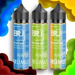 Brümus E-liquids Short Fill | 70% VG Vape Juice | 50ml | Premium US Flavours