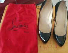 Authentic Genuine 100% Christian Louboutin Black Patent Leather Shoes (size 39)