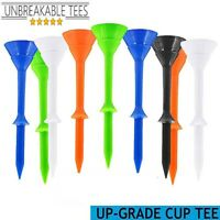 Golf Plastic Tees 3 1/4 Unbreakable Various Colors Long Lasting Pack Of 30/60