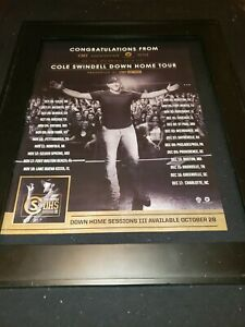 Cole Swindell Downhome Sessions III Rare Promo Poster Ad Framed!