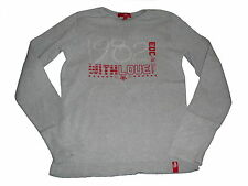 Edc by Esprit tolles Langarm Shirt Gr. 140 / 146 grau-rot !!