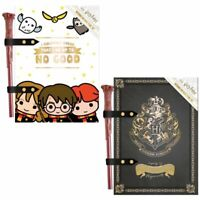 Official Harry Potter A5 Notebook & Wand Pen Set Chibi Hogwarts Crest BRAND NEW