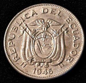 1946 Ecuador 5 Centavos Nice Coin
