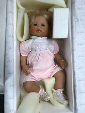 Monika Levenig Porzellan Puppe 58 cm. Top Zustand