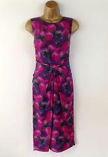 Bastyan Dress Karen Millen UK Size 10 Womens Pink Wiggle Pencil Evening RRP £275