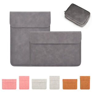 """Leather Matte Laptop Sleeve Bag Case For Macbook Air Xiaomi 13.3"""" 15.4"""" Notebook"""