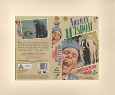 PRESS FOR TIME-HAND SIGNED VIDIO SLEEVE DISPLAY by NORMAN WISDOM-AFTAL/UACC RD