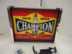 Champion Spark Plug LED Display light sign box
