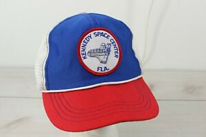 Vintage 1980's Kennedy Space Center Space Shuttle Snapback Trucker Hat Cap Mesh