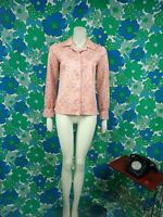 V37 Ladies Vintage 1970's Paisley Blouse Size 10 Shirt Long sleeve Red
