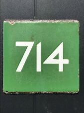 LONDON TRANSPORT BUS STOP E PLATE 714