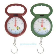 10kg Weighing Portable Numeral Pointer Spring Balance Hanging Scale w/ Hook