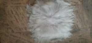 ICELANDIC SHEEPSKIN Grey Chair Car Seat COVER Dog Cat Bed