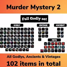 Murder Mystery 2 Godly Set - Every Godly, Vintage, Ancient + Pets