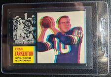 1962 TOPPS FRAN TARKENTON ROOKIE CARD RC COLOR SHIFT VARIATION PROMO SAMPLE VG