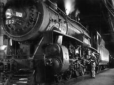 PHOTOGRAPHY 1955 STEAM TRAIN WINSTON LINK ENGINE ART POSTER PRINT LV3583