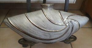 Formano Keramik wunderschöne ENGHALS BLUMENVASE VASE in Grautönen