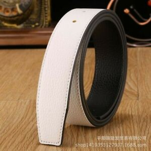 Genuine Leather Belt No Buckle Replacement Belt Mens Strap Belts Straps Two Side