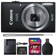 Canon IXUS 185 / ELPH 180 20MP Digital Camera Black and 64GB Accessory Bundle