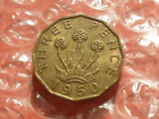 More details for 1950 george vi brass threepence.