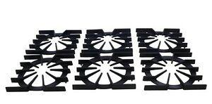 PA060037 Replacement for Viking Spider Grate Black Replaces PA060024 Set of 6