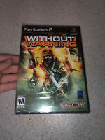 Ps2 Without Warning video game Factory Sealed. NO TARES