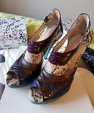 Aldo snakeskin effect multi coloured heels 39/6
